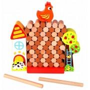 Brinquedo de Madeira Jogo Jenga Fazenda