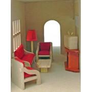 Brinquedo de Madeira Kit de móveis Miniatura para Casinha de Boneca Sala