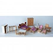 Brinquedo de Madeira Kit Mini Móveis para Casinha de Boneca Standard