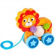 Brinquedo de Madeira Leão de puxar