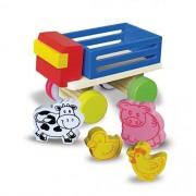Brinquedo de Madeira Mini Caminhão Fazendinha Animais Sortidos