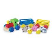 Brinquedo de Madeira Mini Trem Fazendinha