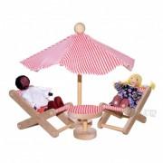 Brinquedo de Madeira Movéis miniatura para casinha de boneca  Kit Móveis para Jardim