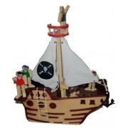 Brinquedo de Madeira Navio Pirata