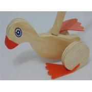 Brinquedo de Madeira Patinho de Empurrar
