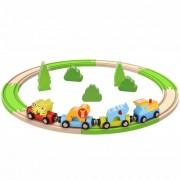 Brinquedo de Madeira Pista Trem 20 Peças