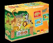 Brinquedo de Madeira Quebra Cabeça Blocos Zoo