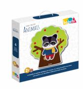 Brinquedo de Madeira Quebra Cabeça Mix Animais