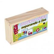 Brinquedo de Madeira Sequencia Lógica Separando o Lixo