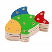 Brinquedo de Madeira Troque e Encaixe as Cores Peixe