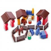 Brinquedo de montar Fazendinha Blocos Dismat