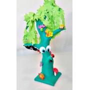 Brinquedo de Pano Árvore Mágica Árvore em Pelúcia com Várias Atividades para o Bebê