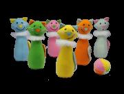Brinquedo de Pano Boliche Baby Gatas