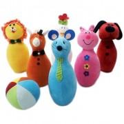 Brinquedo de Pano Boliche de Bichinhos em Tecido