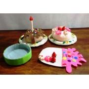 Brinquedo de Pano Kit Bolo de Aniversário de Tecido