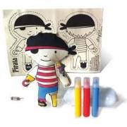 Brinquedo de Pano Kit de Artesanato Boneco Pirata Faça e Brinque