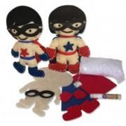 Brinquedo de Pano Kit de Artesanato Heróis da Alegria Faça e Brinque