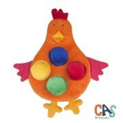 Brinquedo de Pelúcia Educativo Galinha Associativa