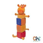 Brinquedo de Pelúcia Girafa Amiga Pirâmide