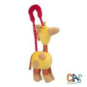 Brinquedo de Pelúcia Vamos Passear Girafa