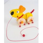 Brinquedo de Puxar de madeira Dog