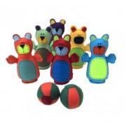 Brinquedo de Tecido Boliche em Feltro Ursinhos