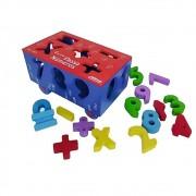 Brinquedo Educativo Carrinho Passa Números em madeira