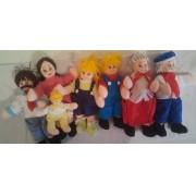 Brinquedo Educativo Conjunto de Bonecos Família Branca
