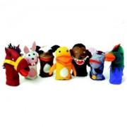 Brinquedo Educativo Conjunto de Fantoches Animais Domésticos com 7 Personagens