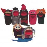 Brinquedo Educativo Conjunto de Fantoches Personagens do Folclore 7 personagens