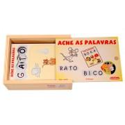 Brinquedo Educativo de Madeira Ache as Palavras