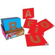 Brinquedo Educativo de Madeira Alfabeto Com Lixa