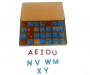 Brinquedo Educativo de Madeira Alfabeto Montessori