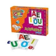Brinquedo Educativo de Madeira Alinhavos Vogais