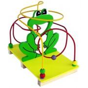 Brinquedo Educativo de Madeira Aramado Montanha Russa Sapo