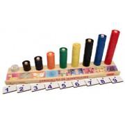 Brinquedo Educativo de Madeira Associação de Quantidades