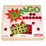 Brinquedo Educativo de Madeira Bingo de Letras