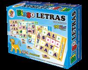 Brinquedo Educativo de Madeira Bingo Letras