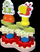 Brinquedo Educativo de Madeira Blocos de Montar Torre Decorada