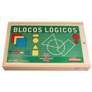 Brinquedo Educativo de Madeira Bolcos Lógicos