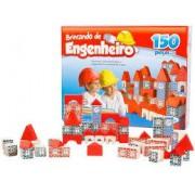 Brinquedo Educativo de Madeira Brincando de Engenheiro 150 peças Xalingo