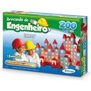 Brinquedo Educativo de Madeira Brincando de Engenheiro 200 peças Xalingo