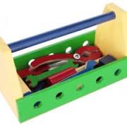 Brinquedo Educativo de Madeira Caixa Ferramentas
