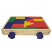 Brinquedo Educativo de Madeira Carro com Blocos