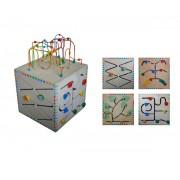 Brinquedo Educativo de Madeira Centro de Atividades Psicomotoras