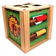 Brinquedo Educativo de Madeira  Cubo Multiatividades