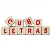 Brinquedo Educativo de Madeira Cuboletras Cul 40