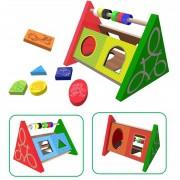 Brinquedo Educativo de madeira de encaixar Passa Passa Decorado