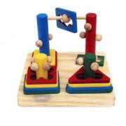 Brinquedo Educativo de Madeira Desafio Baby