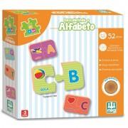 Brinquedo Educativo de Madeira Descobrindo o Alfabeto 52 Peças Nig